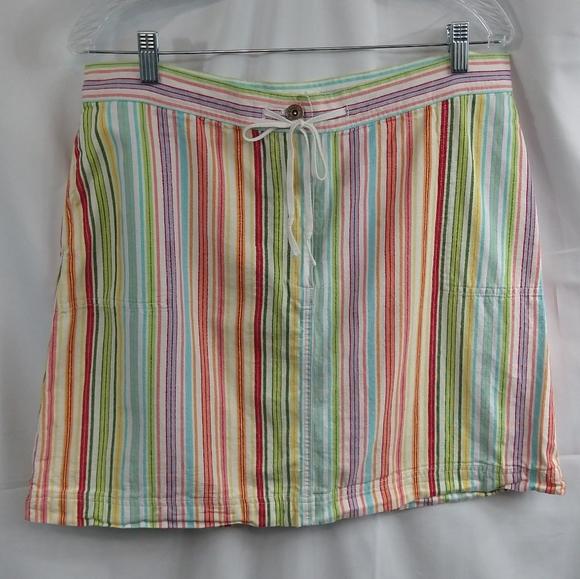 Christopher & Banks Dresses & Skirts - Christopher & Banks Colorful Canvas Skirt Sz 16